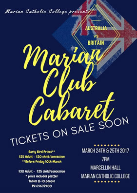 Cabaret 24th and 25th March